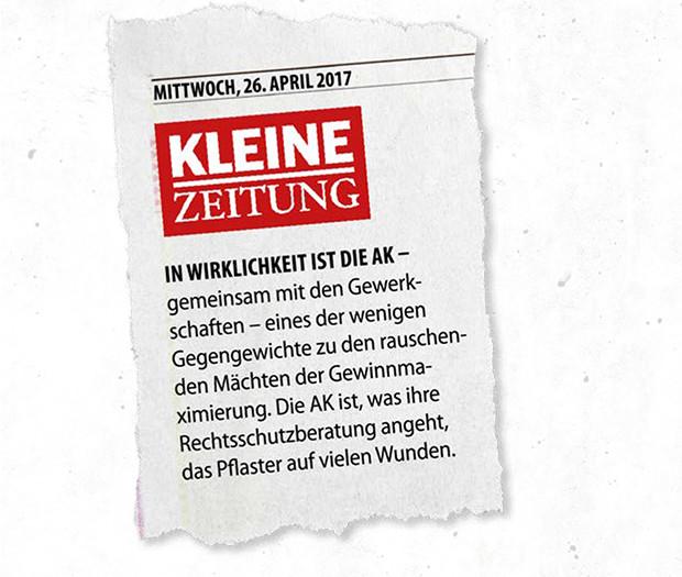 Zeitungsausschnitt Kleine Zeitung © ÖGB Verlag