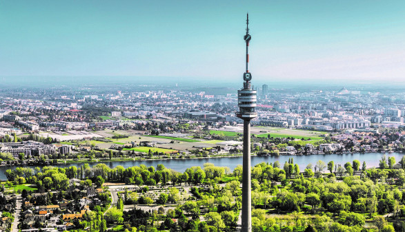 Blick auf den Donauturm © Donauturm