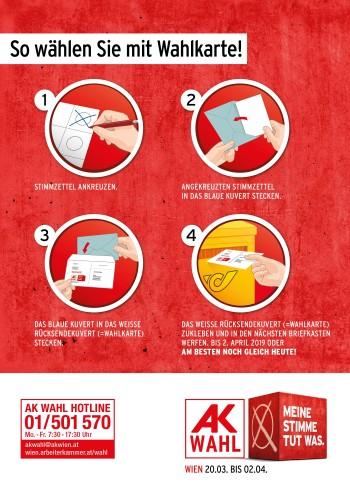 So wählen Sie mit der Wahlkarte © AK