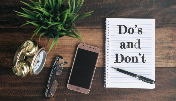 Liste mit Dos und Don'ts © MohdHafiez - stock.adobe.com