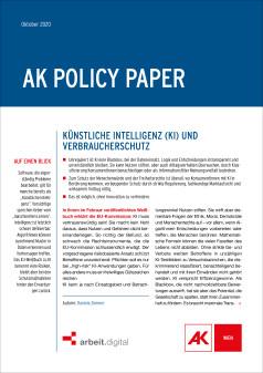 Policy Paper KI und Verbraucherschutz © AK Wien