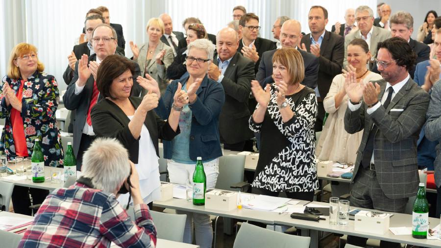 Zur neuen Präsidentin der Bundesarbeitskammer gewählt: Die Wiener AK Präsidentin Renate Anderl erhielt 94,91 Prozent der Stimmen der Mitglieder der Hauptversammlung © Erwin Schuh