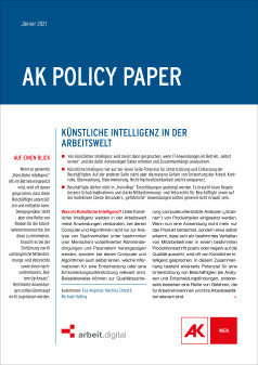 Policy Paper KI in der Arbeitswelt © AK Wien