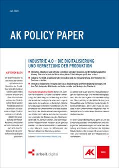 Policy Paper Industrie 4.0 © AK Wien