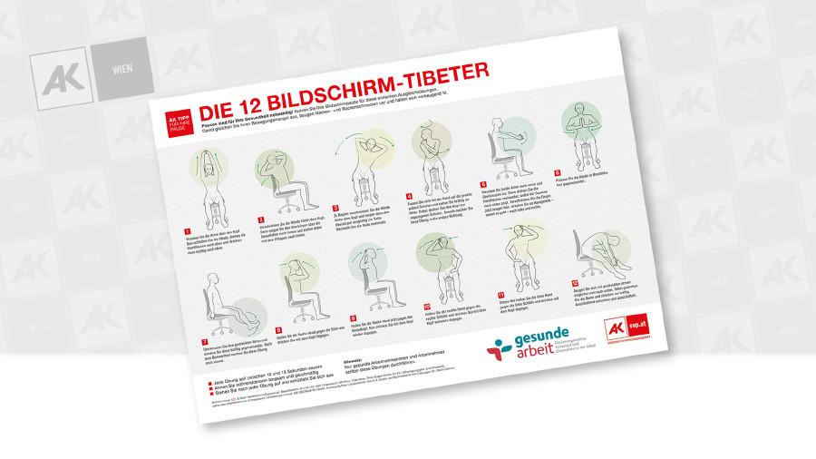 Poster: Die 12 Tibeter © Andreas Kuffner, B.A.C.K. Grafik und Multimedia GmbH