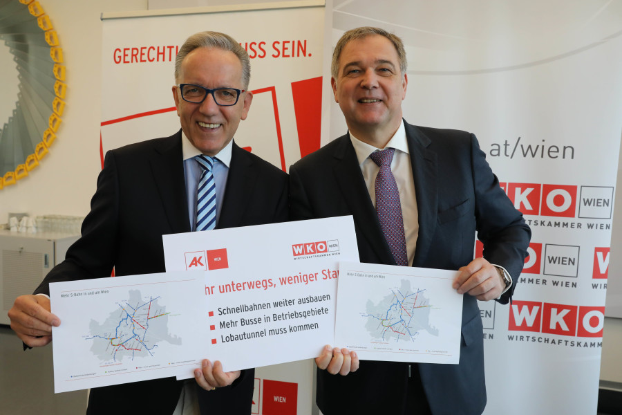 v. l. n. r.: AK Wien Präsident Rudi Kaske und Wirtschaftskammer Wien Präsident Walter Ruck © Christian Fischer, AK Wien