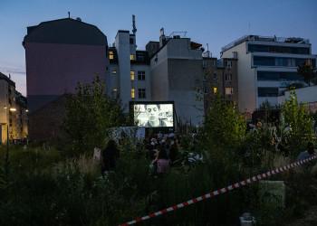 "Kino in der Baulücke ""La Haine"" © Thomas Lehmann"