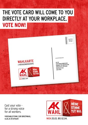 Your vote will come to you - directly at your workplace © AK