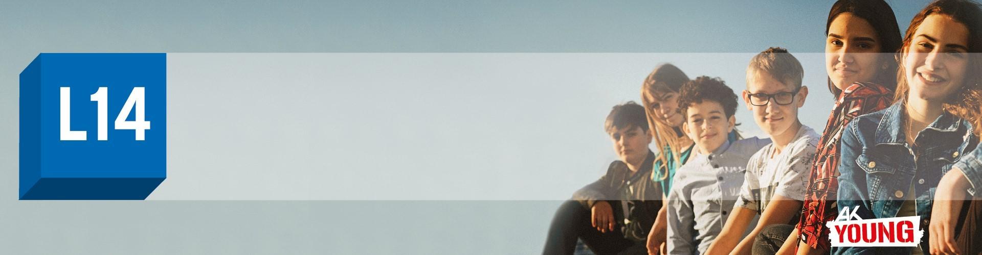 L14 Banner mit Jugendlichen © Lukas Beck