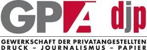Logo der Gewerkschaft der Privatangestellten Druck-Journalismus-Papier © GPAdjp