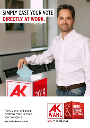 Simply cast your vote - directly at work. © AK
