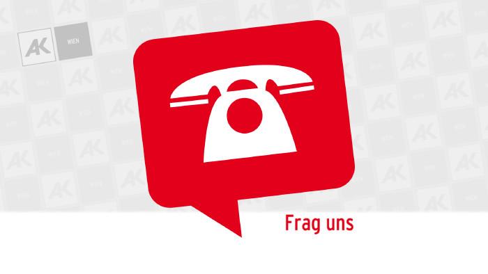Sprechblase mit Telefon © AK Wien