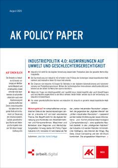 Policy Paper Industrie 4.0 Umwelt und Geschlecht © AK Wien