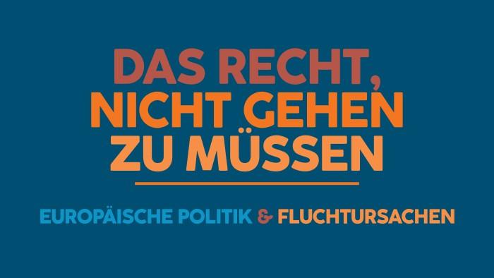 Europäische Politik und Fluchtursachen © Julia Stern