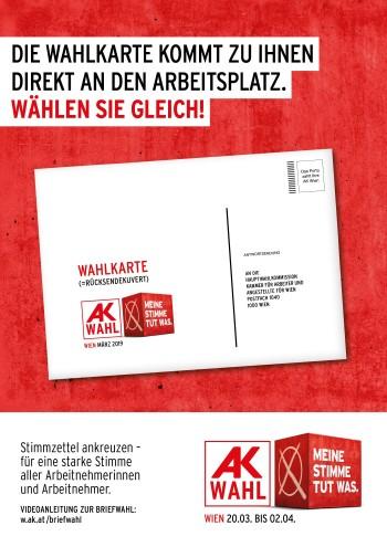 Die Wahlkarte im Betrieb © AK